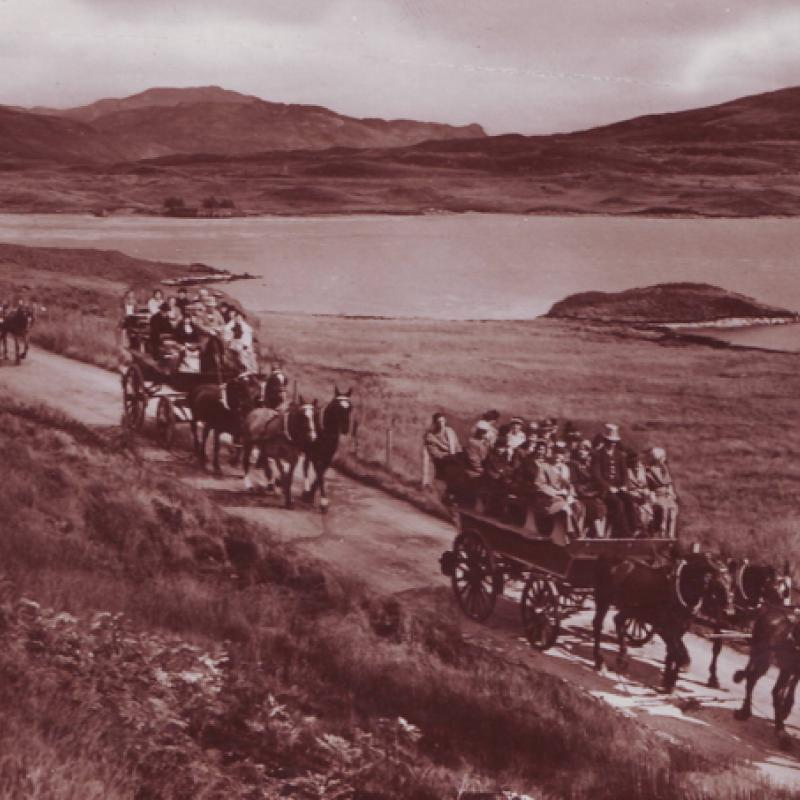 Horse & Carriage at Loch Arklet